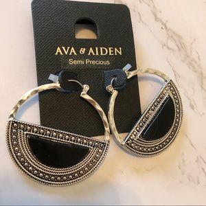 Ava & Aiden hoop earrings